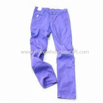 Girls Jeans with Garment Wash Made of 100% Cotton Fabric
