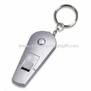 LED Keychain Light with Whistle