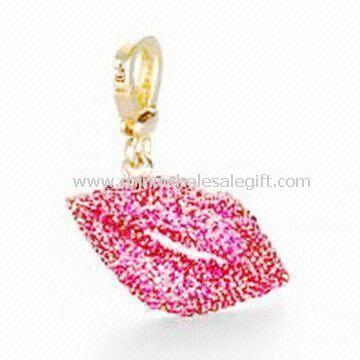 Lips-shaped Metal Keychain