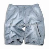 Short Jeans with Multiple Pockets and Zippers Made of 100% Cotton Fabric images