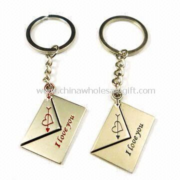Metal Couple Keychains