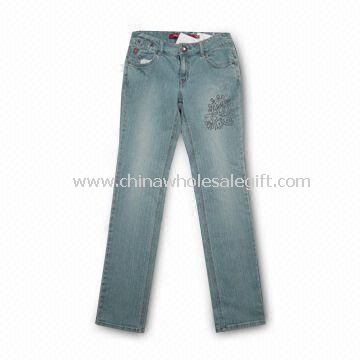 Womens Jeans with Five Anti-silver Studs