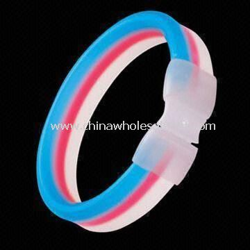 Flashing Glow Bracelets with Double Colors