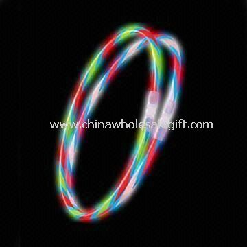 Flashing Glow Bracelets with Double Colors and Connector