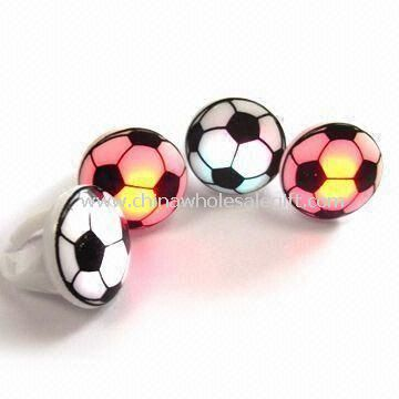 Football Imprint LED Flashing Ring with 18mm Inner Diameter