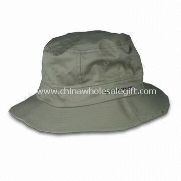 Bucket Hat Made of Waxed Cotton and Flannel