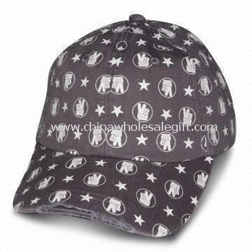 Heavy Brushed Cotton Twill Baseball Cap with Full Printing