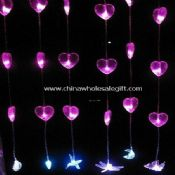 LED string curtain light window display images