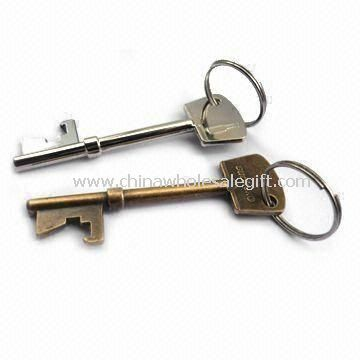 Bottle Opener Keychains Made of Metal and Plastic