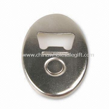 Bottle Opener with Magnet and Nickle-plated Finish