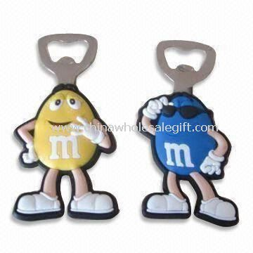 Cartoon Shaped Refrigerator Magnets with Metal Bottle Opener