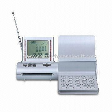 Foldable Caculator with Calendar FM Radio Alarm Stopwatch and Worldtime
