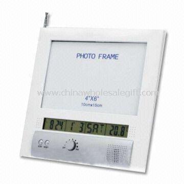 LCD Display Desk Calendar with Multifunctional FM Radio