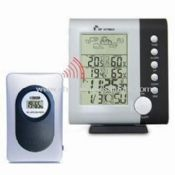 Wireless Weather Station Clock with Moon Phase Calendar Alarm World Time Zone Set images