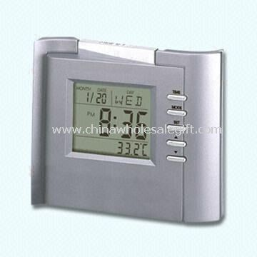 Multifunction LCD Alarm Clock with Thermometer World Time and Calendar
