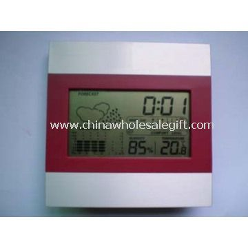Weather station Clock with humidity temperature and calendar