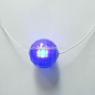 Flashing LED Necklace Pendant