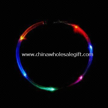 LED Fiber Optical/Chasing Necklace with Removable Tag and On/Off Switch