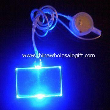 Světlo v poutavé blikající náhrdelník s 1ks LED