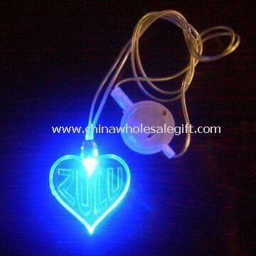 Novelty Light with Heart-shaped Flashing Necklace