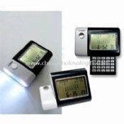 World Time Calendar with Torch and Calculator Includes Alarm Clock and Night Light images