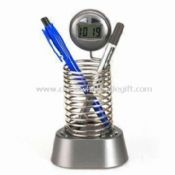 Spring-shaped Pen Holder with Radio and Clock images