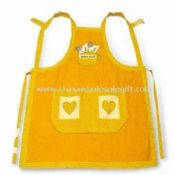 Yarn-dyed Gingham Apron with Embroidery Made of 100% Cotton images