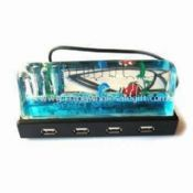 4-port Liquid USB Hub with Pen Holder and Plug-and-play Function images