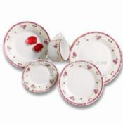 30-piece Porcelain Dinner Plate with Decal in Wing Shape images
