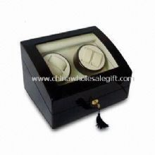 Wooden Watch Winder Box with Cream PU Interior images