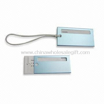 Aluminum Luggage Tags with Attachment Metal Ring and Silkscreen/Laser/Press Printing