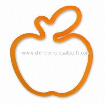 Apple-shaped Rubber Band/Silicone Wristband