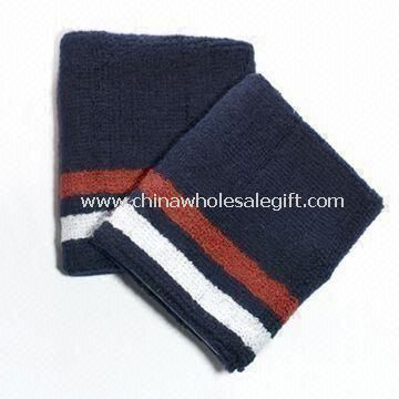 Cotton Wristbands with Woven Label