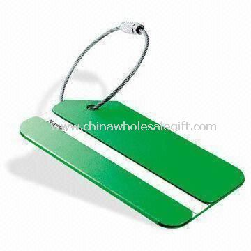 Luggage Tag with Space for Logo Printing Made of Aluminum or Alloy