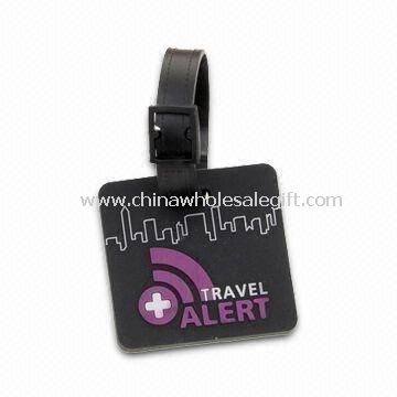 Travel Tag Made of Soft PVC Material with Rubber Belt Attachment