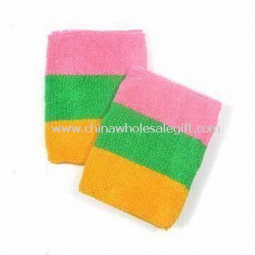 Wrist Bands in Colorful Design Made of Cotton