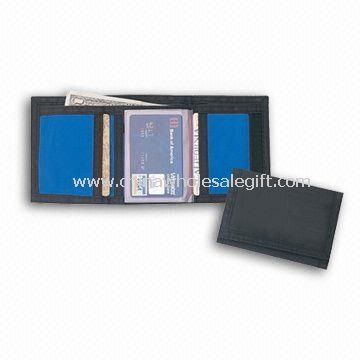 3-fold Wallet with Coin Compartment and Velcro Closure Made of 600D Polyester