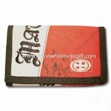 600D Nylon Womens Sports Trifold Fabric Wallet