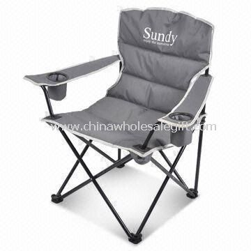Camping Chair Made of Steel with 600D Polyester Fabric