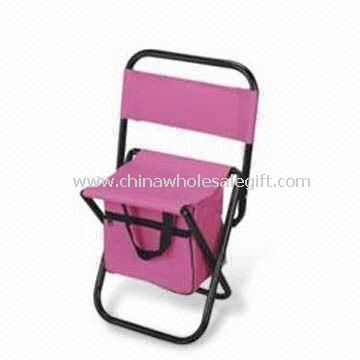 Camping Chair with Cooler Bag at Back and Steel Frame