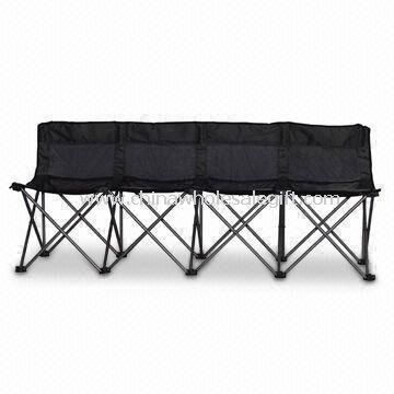 Camping Chair with Polyester 600 x 300D PVC Coated/Mesh