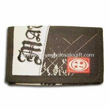Childrens Trifold Ripper Wallet/Bag Made of Cotton Fabric
