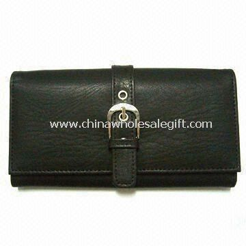 Genuine Leather Wallet Mesh and ID Pocket in Front