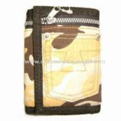 Mens Trifold Ripper Wallet Made of Cotton Fabric images