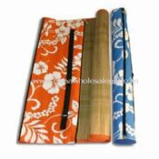 Picnic Straw Mat with non-woven Cover and Heat Transfer Printing images