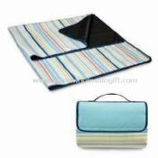Waterproof Foldable Stripe Picnic/Beach Mat Made of Polyester Fleece images