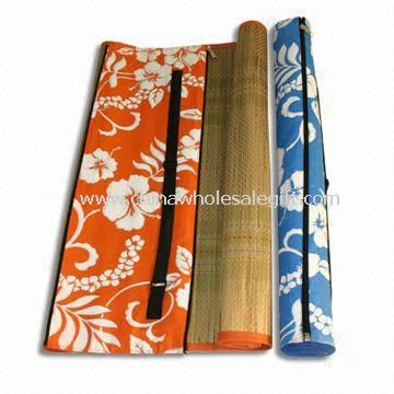 Picnic Straw Mat with non-woven Cover and Heat Transfer Printing