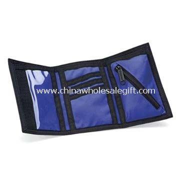Tri-fold Sports Wallet Made of 600D Polyester