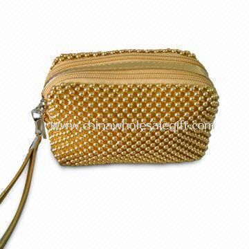 Womens Printed Polyester Purse Wallet with Multiple Pockets