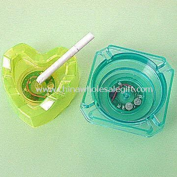 Flashing Ashtrays in Assorted Transparent Colors